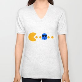 Pacman - The Ghosts - Inky Unisex V-Neck