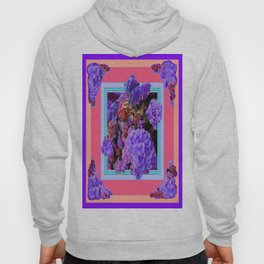 Lilac Purple Hydrangeas garden Abstract Hoody