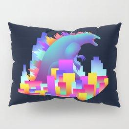 Neon city Godzilla Pillow Sham