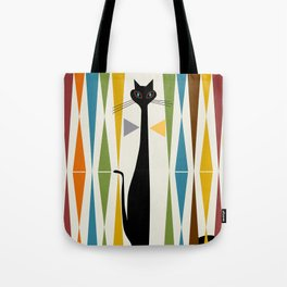 Mid-Century Modern Art Cat 2 Tote Bag