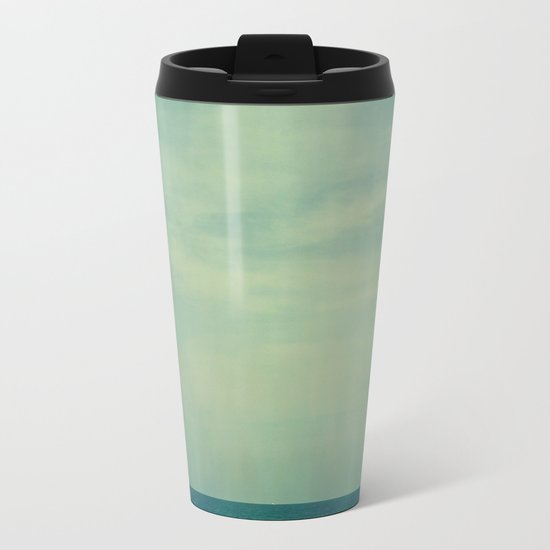 Sky Blue Metal Travel Mug