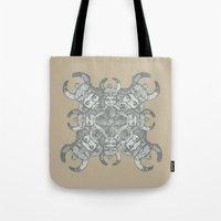 demon Tote Bags featuring Demon by Sandeep Barot