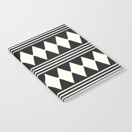 Simple mudcloth diamonds and lines Notebook