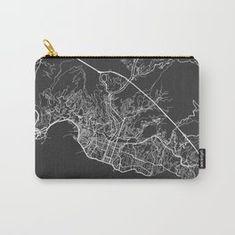 Genoa Map, Italy - Gray Carry-All Pouch