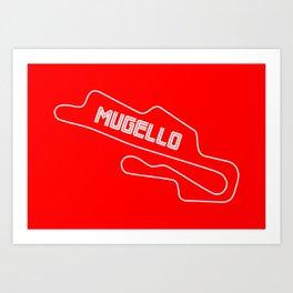 Race Track Mugello, Home of Ducati Art Print