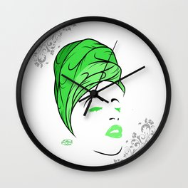 Lady Wrap (green) Wall Clock