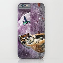 Tiger and Hummingbird iPhone Case