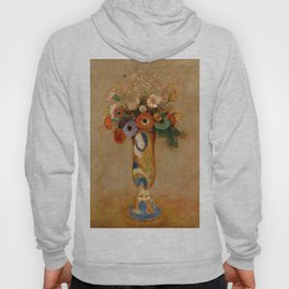 "Odilon Redon ""Wildflowers in a Long Necked Vase"" Hoody"