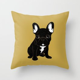Brindle French Bulldog Throw Pillow