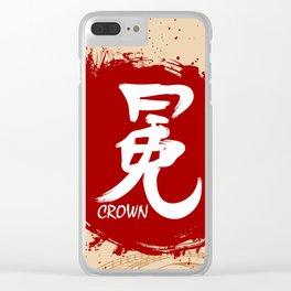 Japanese kanji - Crown Clear iPhone Case