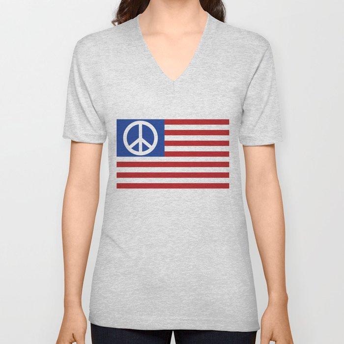 Peace in America Unisex V-Neck