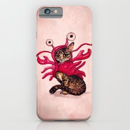 """Ma'ama Lisa"" by Amber Marine ~ Lobster Cat, Watercolor and Ink, (c) 2015 iPhone Case"