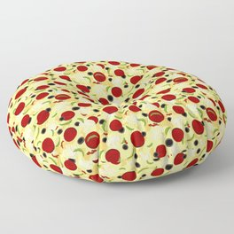 Pizza Toppings Pattern Floor Pillow