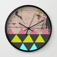graffiti Wall Clocks featuring Graffiti by Bunhugger Design
