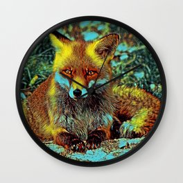 AnimalMix_Fox_003_by_JAMColors Wall Clock