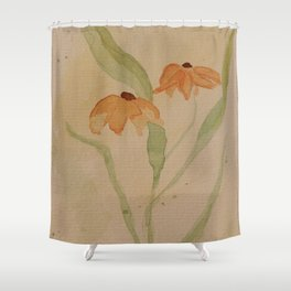 Dog Daisy Shower Curtain