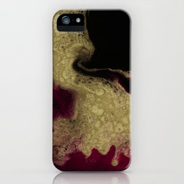 Black Honey - resin abstract painting iPhone Case