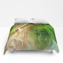 Dream Light Green Tree Comforters