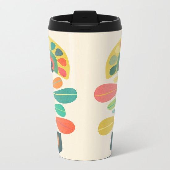 Fan Flower Metal Travel Mug