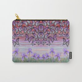 swallowtails, snails, & irises at sunrise Carry-All Pouch