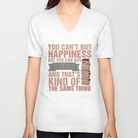 books V-neck T-shirts featuring Books by thespngames