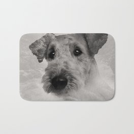 Airedale Terrier Double Exposure Bath Mat
