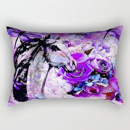 HORSE ROSES DRAGONFLY IMPRESSIONS Rectangular Pillow