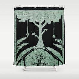 Grounding (Black) Shower Curtain
