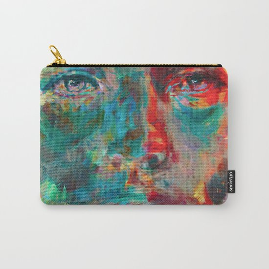 Face in Saturated Color's 2 Carry-All Pouch