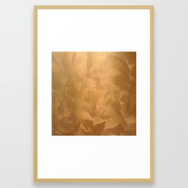 Brushed Copper Metallic - Beautiful - Rustic Glam - Fancy Faux Finishes - Metallic Paint Framed Art Print