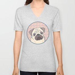 Cute pug Unisex V-Neck