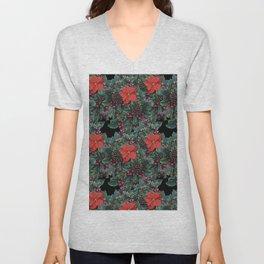 Christmas Floral pattern Unisex V-Neck