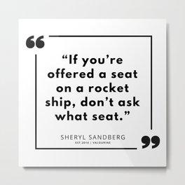 3   | Sheryl Sandberg Quotes | 190902 Metal Print