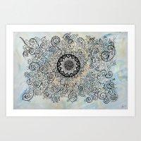"""Under de water """"Ocean Vibes Collection"""" by Indiga Ethnik Art Print"""