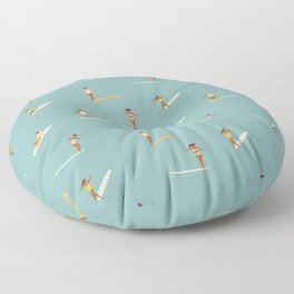 Surf girls Floor Pillow