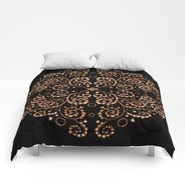 Mandala henna black Comforters
