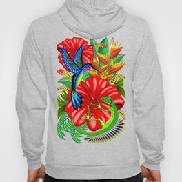 The Lizard, The Hummingbird and The Hibiscus Hoody