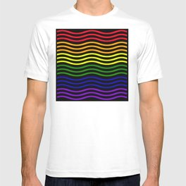 Roygbiv curvilinear design T-shirt