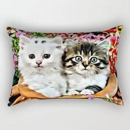 TWO CUDDLY KITTENS Rectangular Pillow