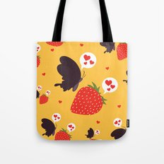 the death loves the strawberry Tote Bag