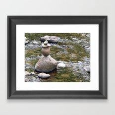 Zen Rocks Framed Art Print