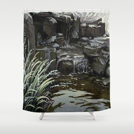 Water Falling Shower Curtain