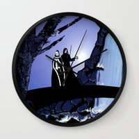 rogue Wall Clocks featuring Rogue & Remy  by Andrew Formosa