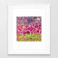 psychadelic Framed Art Prints featuring Psychadelic Succulents by Hithere22
