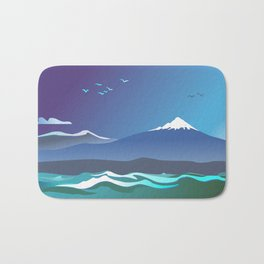 Mont Taranaki From The Sea Bath Mat