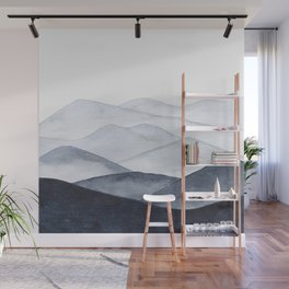 Watercolor Mountains Wall Mural