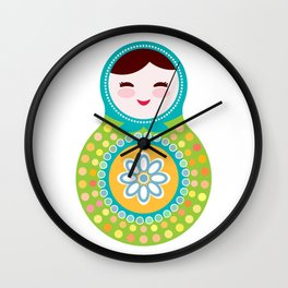 babushka doll matryoshka Wall Clock