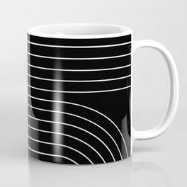 Minimal Line Curvature - Black and White II Coffee Mug