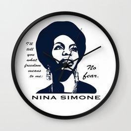 Nina Simone No Fear Wall Clock