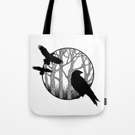 Black Birds II Tote Bag